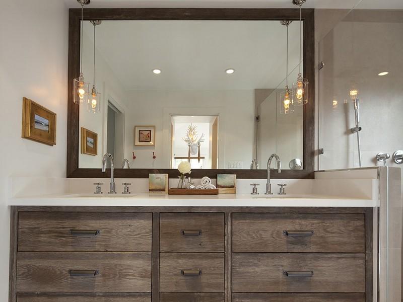 Зеркало в стиле лофт для ванной комнаты