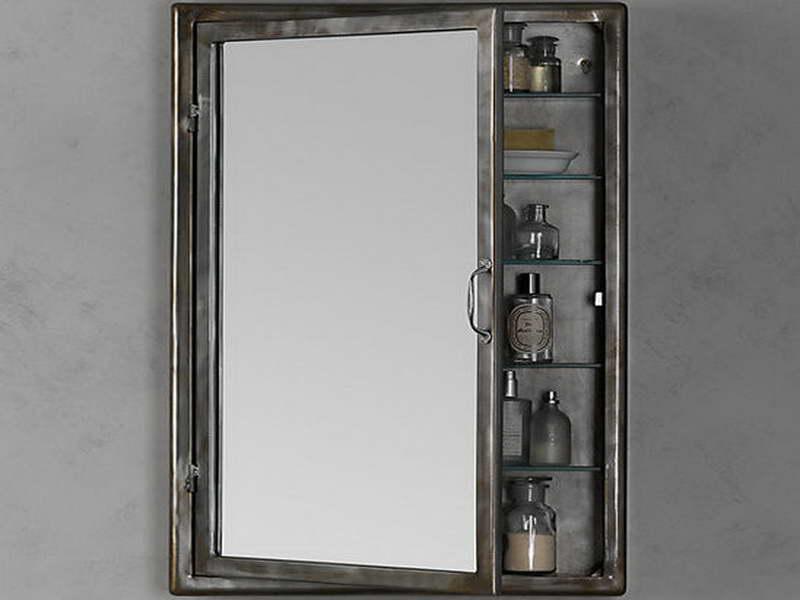 Зеркало в стиле лофт металл