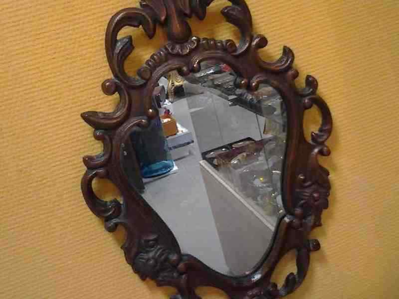 Зеркало лофт в металлической раме