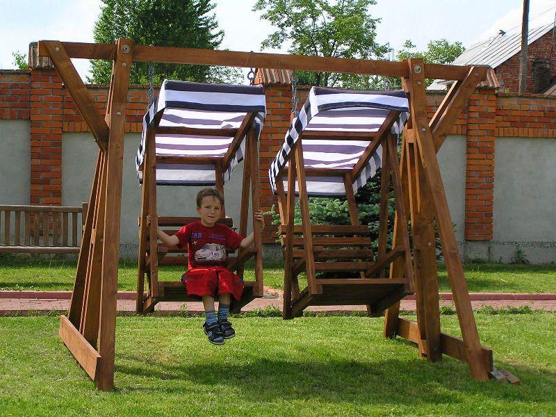 Детские деревянные подвесные качели