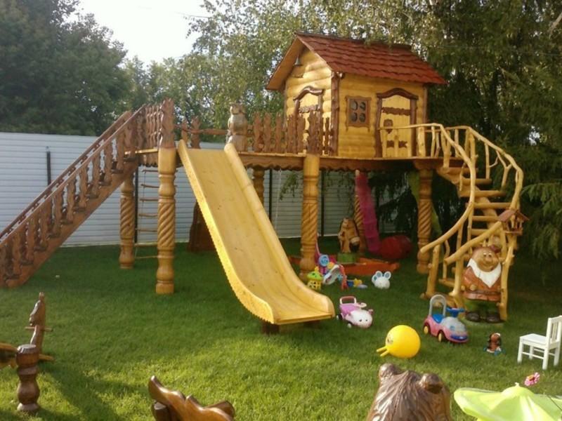 Площадка детская из дерева