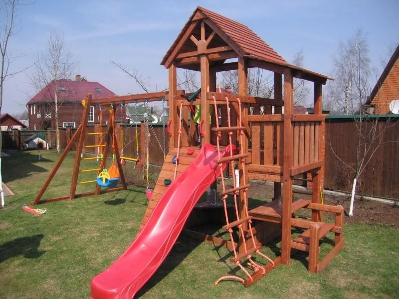Деревянные игровые комплексы для детей для улицы