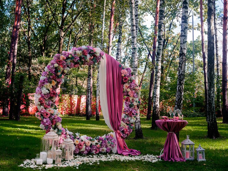 Свадебные арки круглые