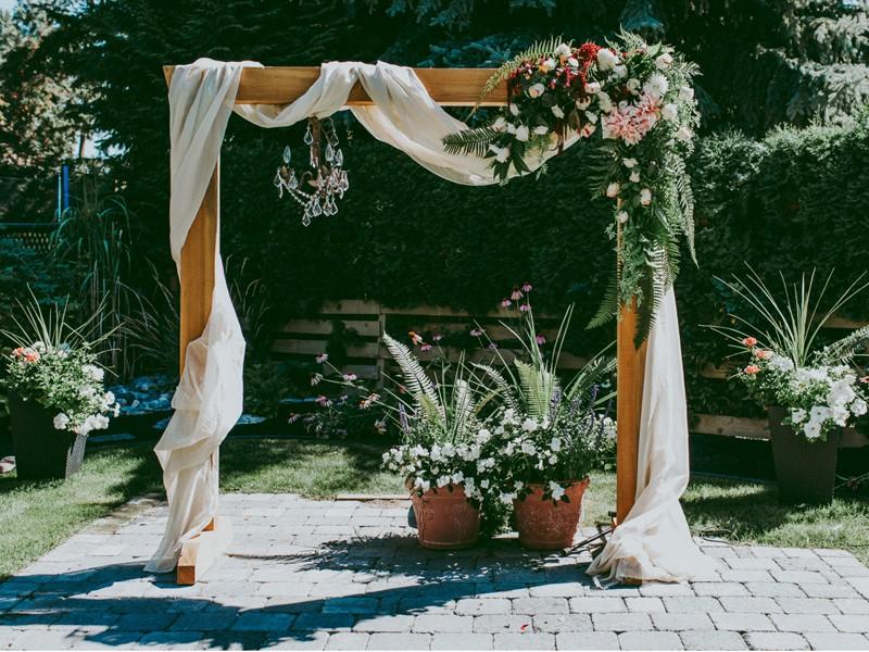 Квадратная арка на свадьбу