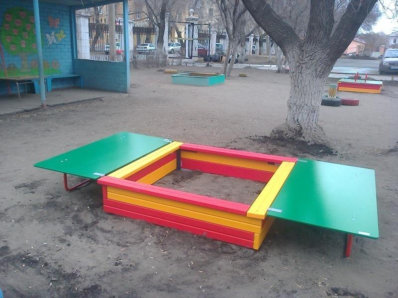 Песочницы для детского сада с крышкой