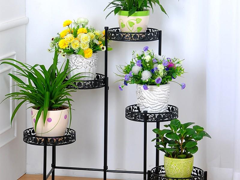 Подставка для цветов напольная металлическая