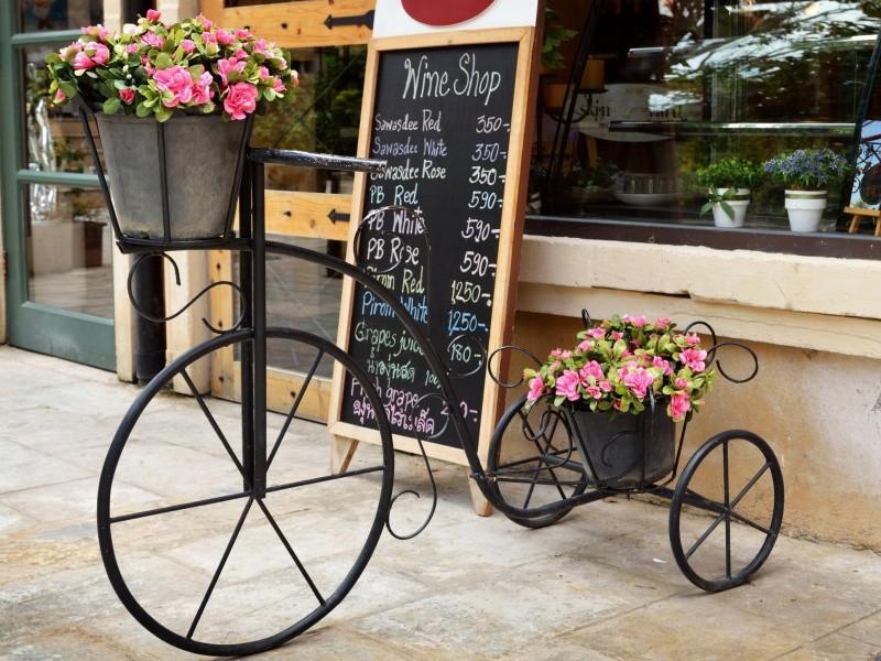 Подставка велосипед под цветы