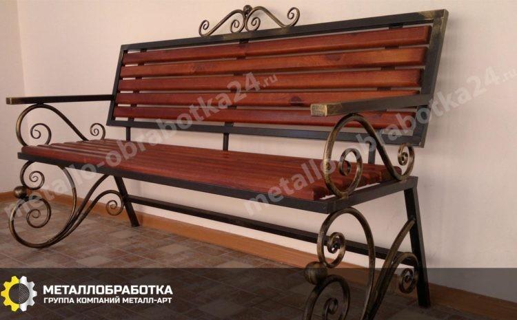 Кованная скамья