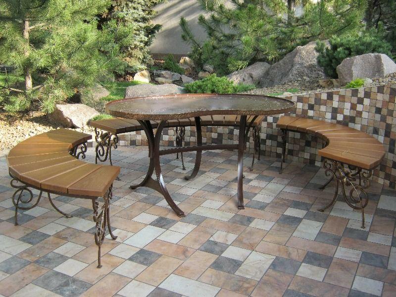 Кованые столы для дачи