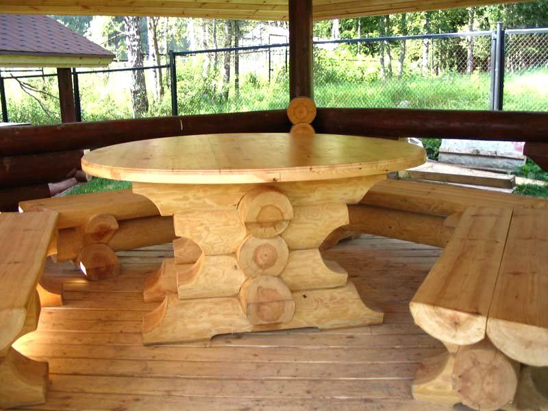 Мебель в беседку деревянная