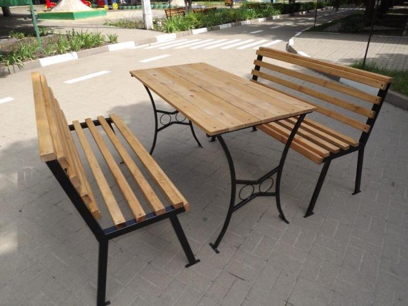 Металлические столы для дачи уличные