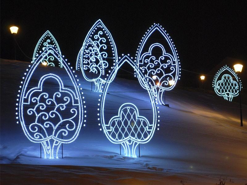 Светящиеся новогодние фигуры