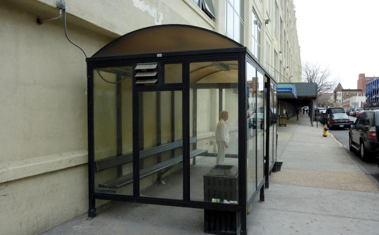 Курилка стеклянная уличная