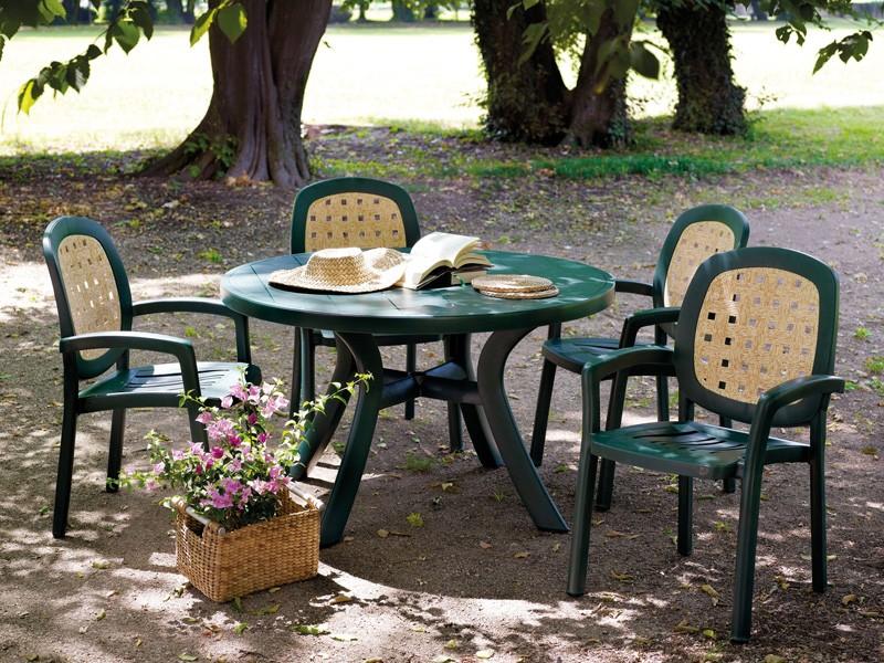 Пластиковые садовые столы и стулья