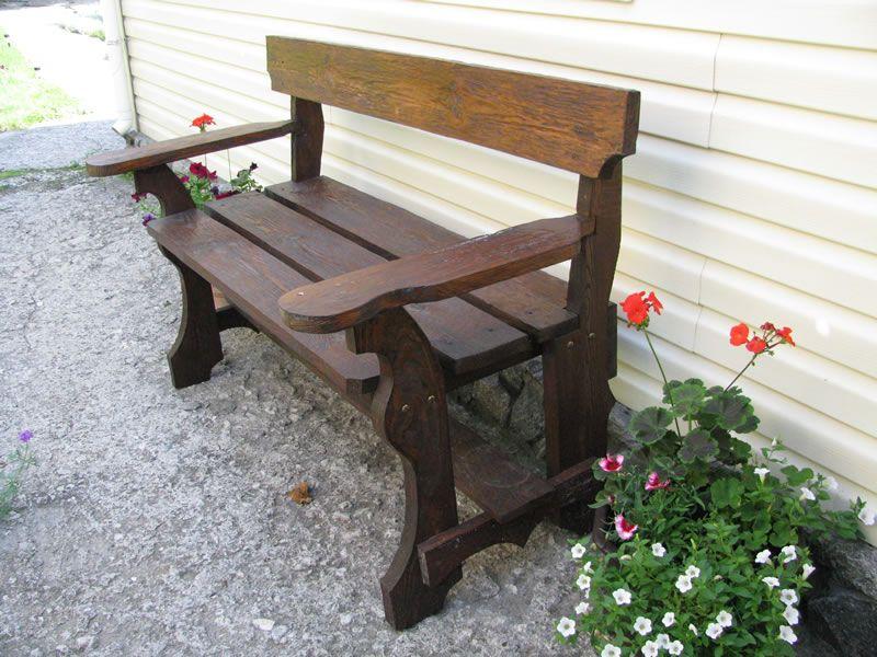 Садовые деревянные скамейки со спинкой