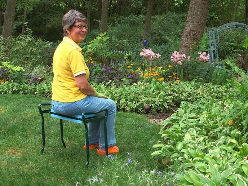 Скамейка перевертыш садовая