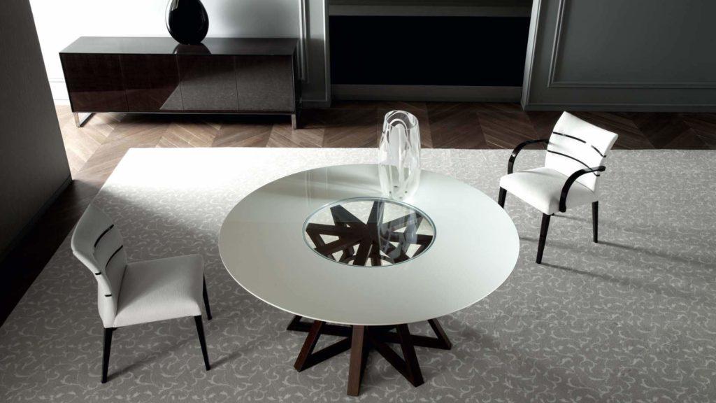 Стол лофт со стеклянным покрытием