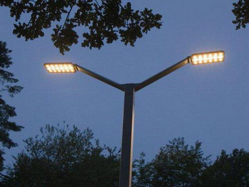 Уличные светильники на столбы