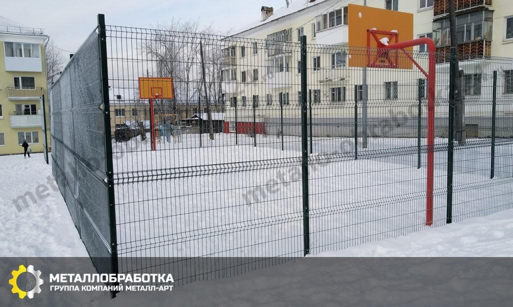 уличное ограждение спортивной площадки на заказ