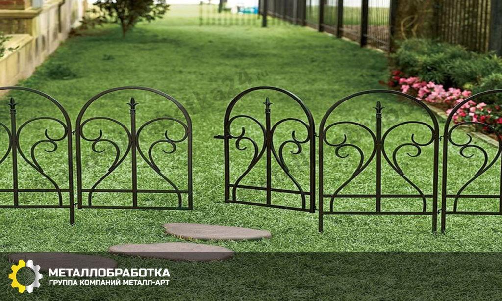 металлические ограждения для газона