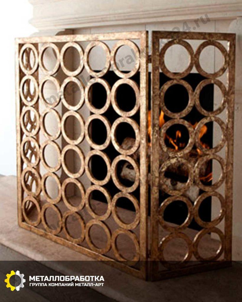 Решетка для камина латунь