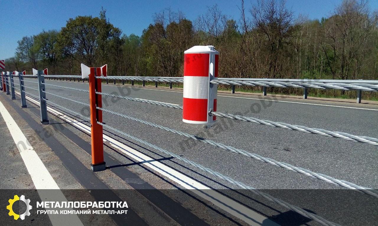 Установка барьерного ограждения