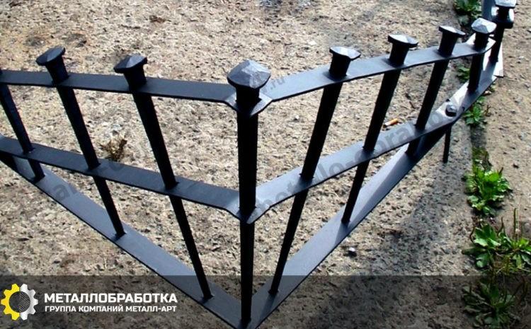 Декоративное ограждение металлическое