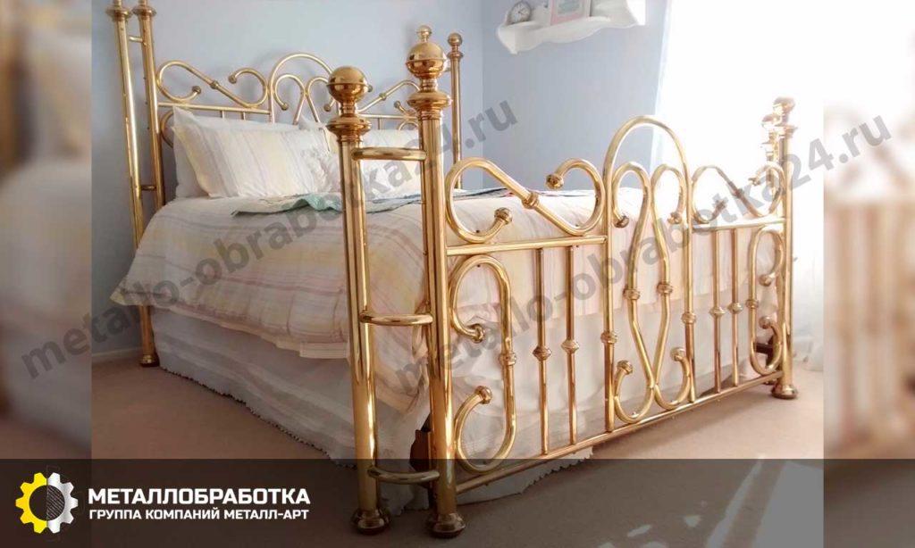 Кровать из латуни