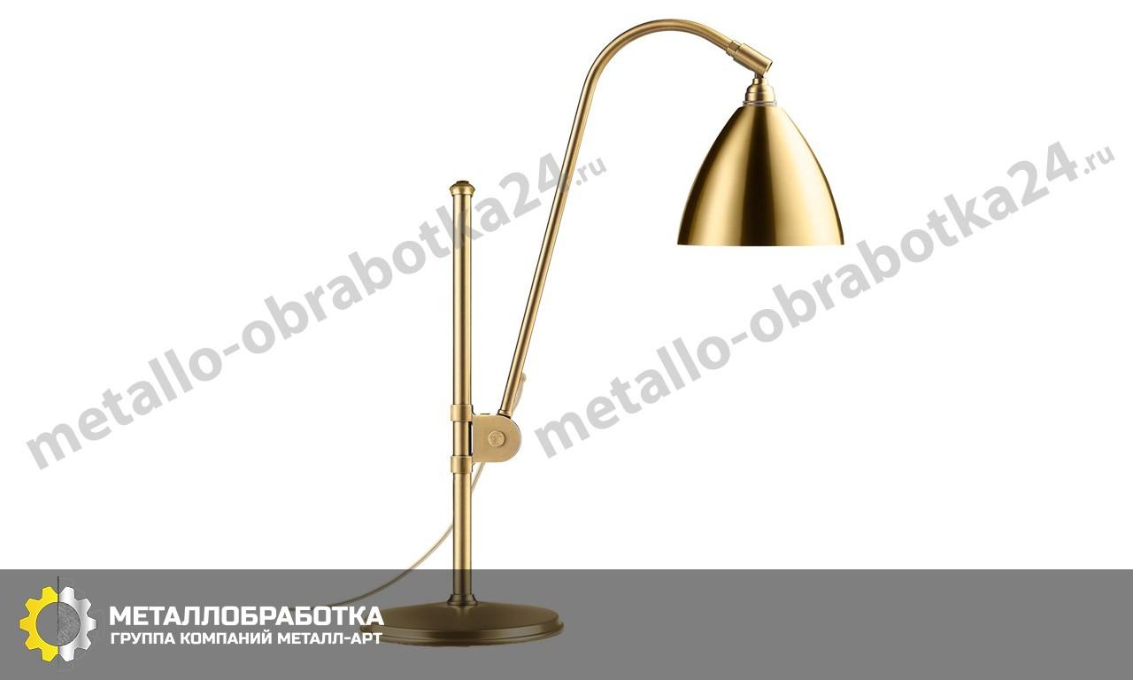заказать настольную латунную лампу