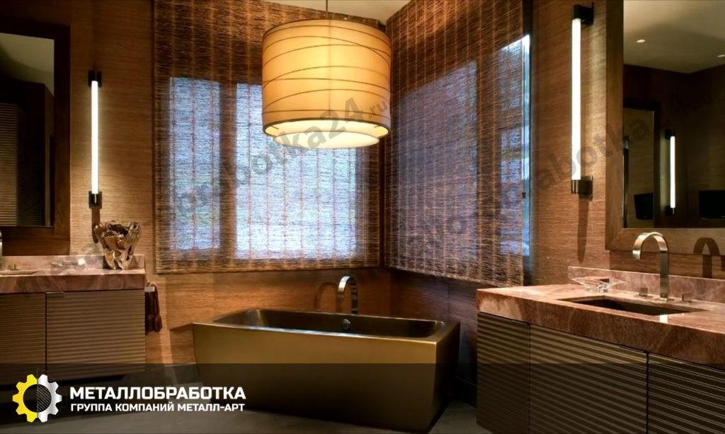 латунная ванна на заказ