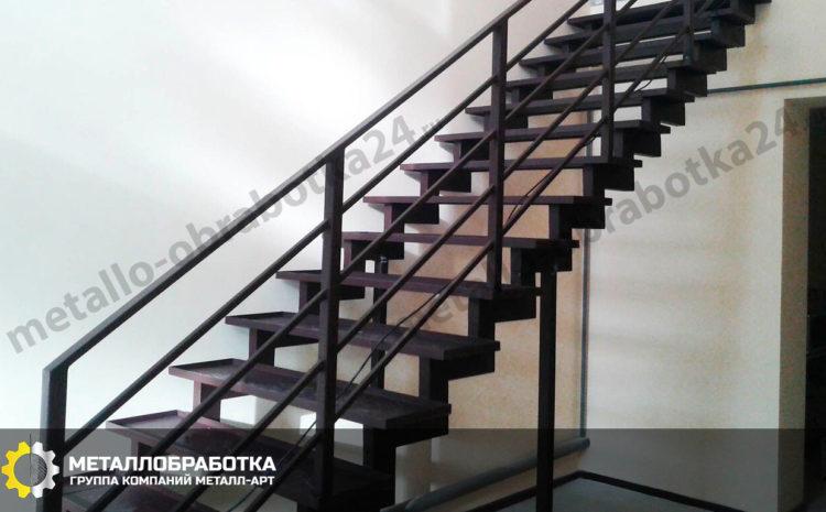 Ограждение лестницы из металла