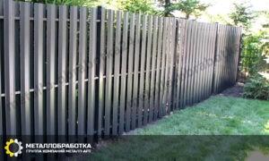 Металлические заборы для дачи
