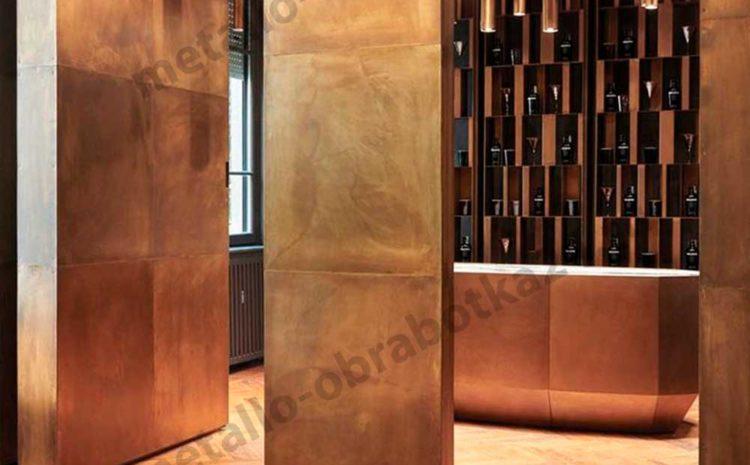 Стеновые панели латунь
