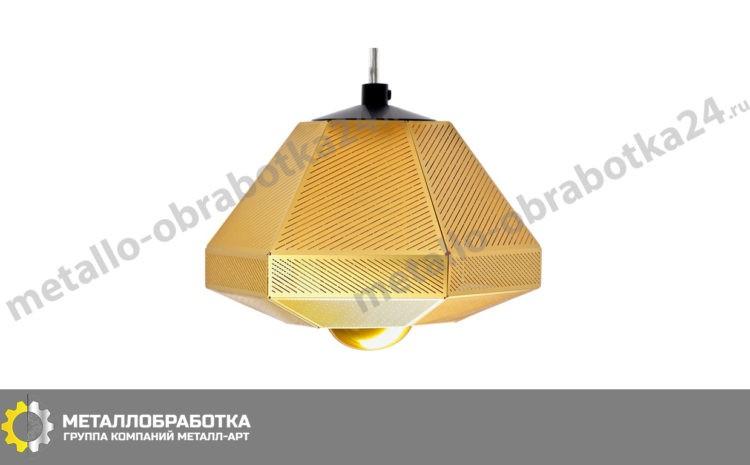 заказать светильник из латунных пластин