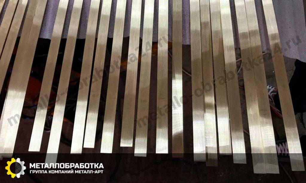 Профиль из латуни для мебели