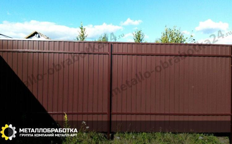 Забор профильный секционный