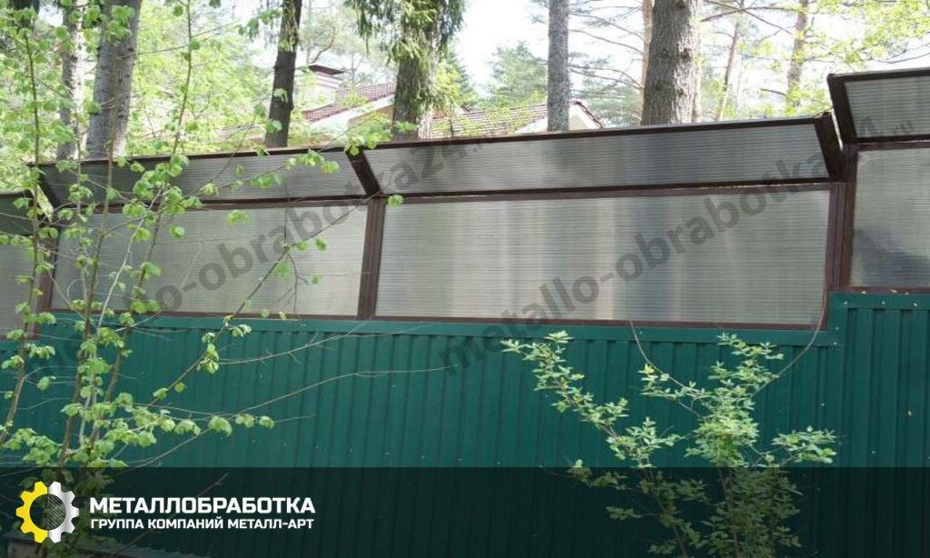 Шумозащитный забор для частного дома