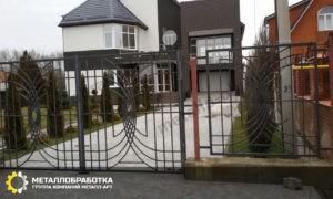 Сварной забор ковкой