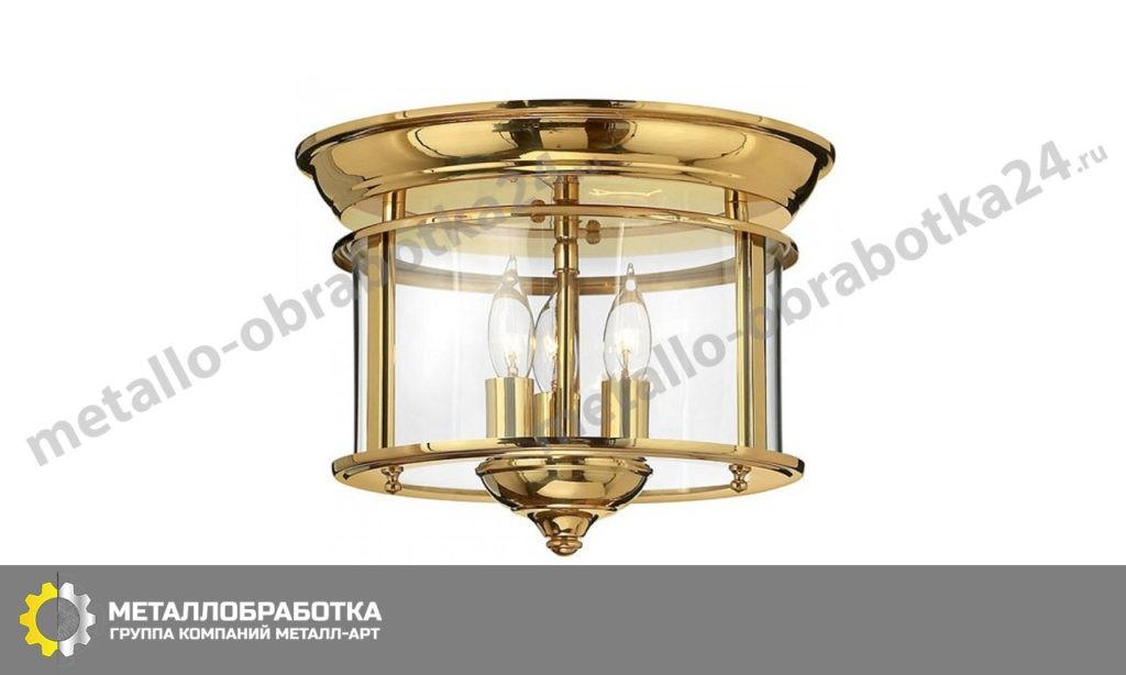 заказать классический светильник из латуни