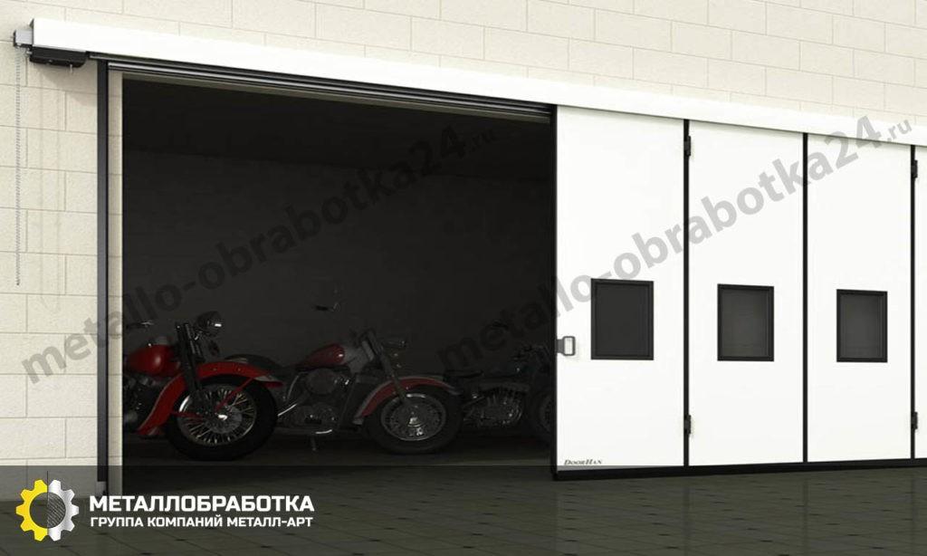 Откатные ворота в гараж под ключ