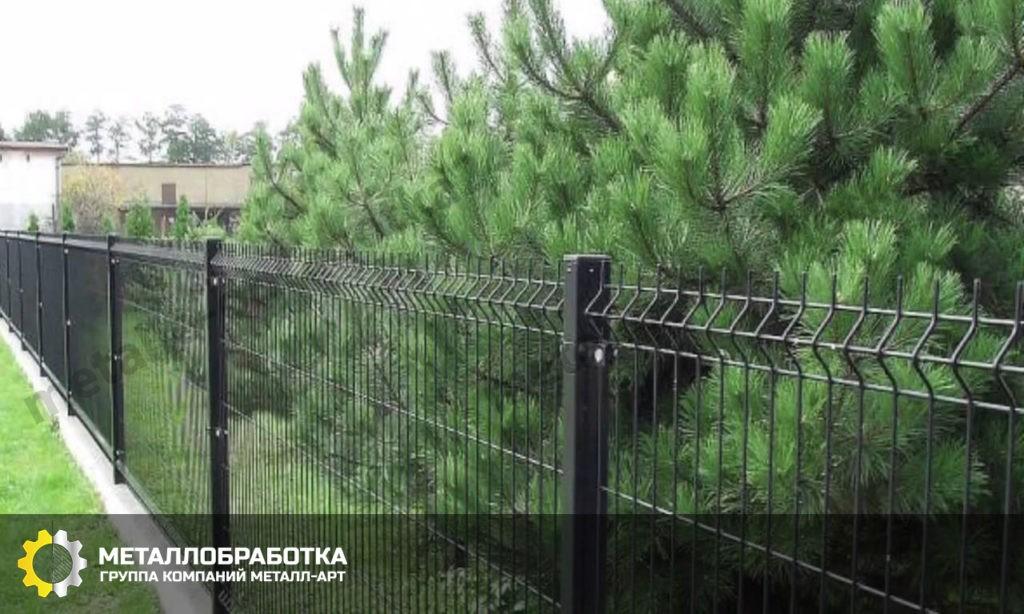Забор из сетки 3d под ключ