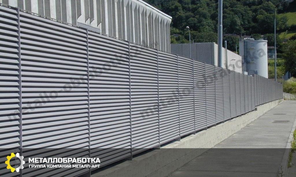 Забор из алюминиевых панелей