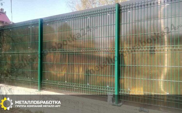 Заборы из поликарбоната для дачи
