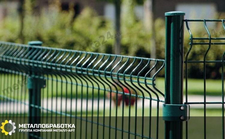 Сварной забор с полимерным покрытием