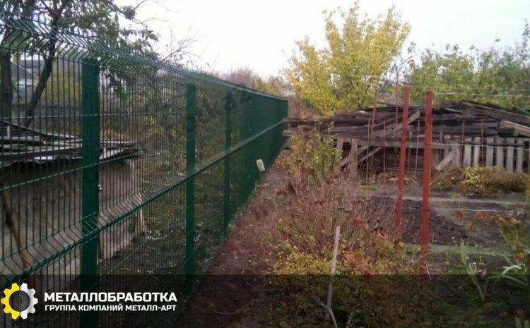 3д забор для дачи