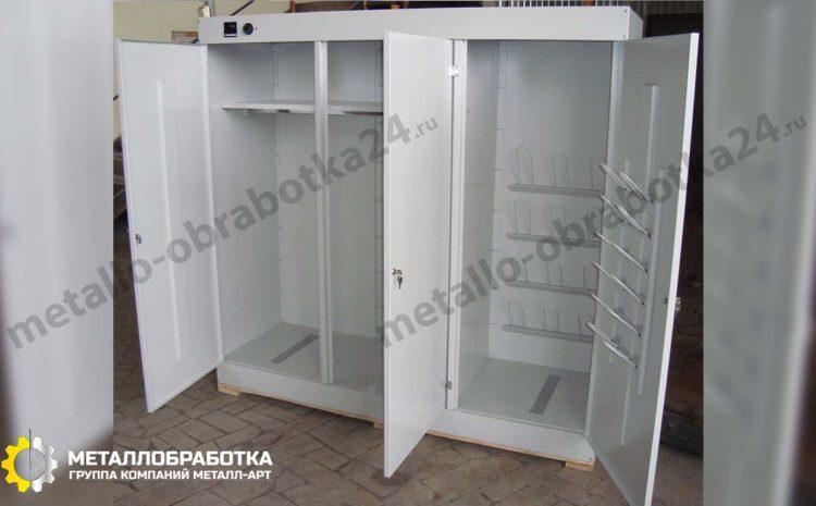 металлический шкаф с полками с замком на заказ