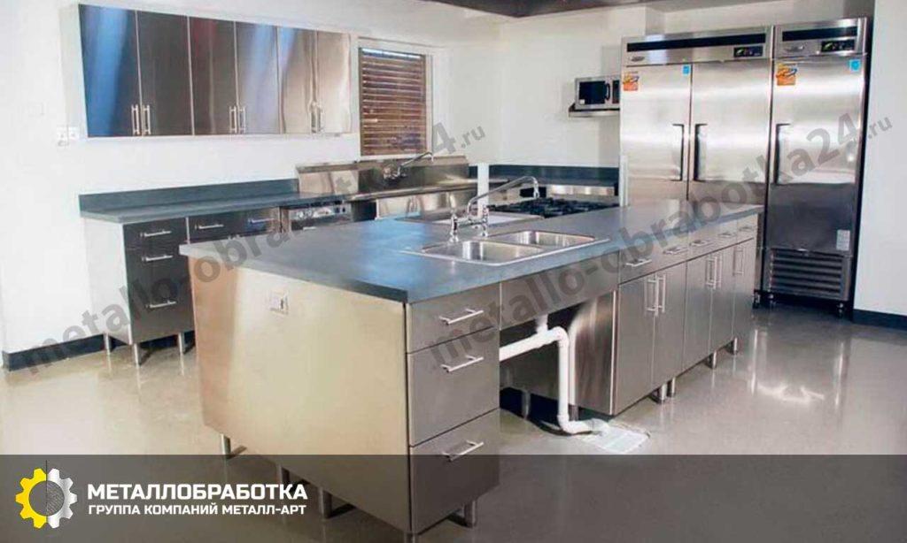заказать кухонные фасады из нержавеющей стали