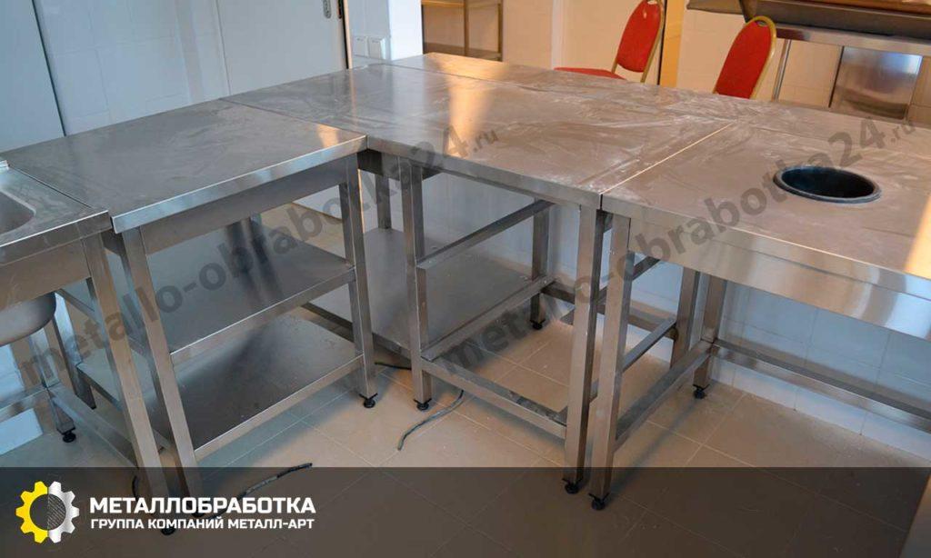 заказать столы из нержавейки для общепита