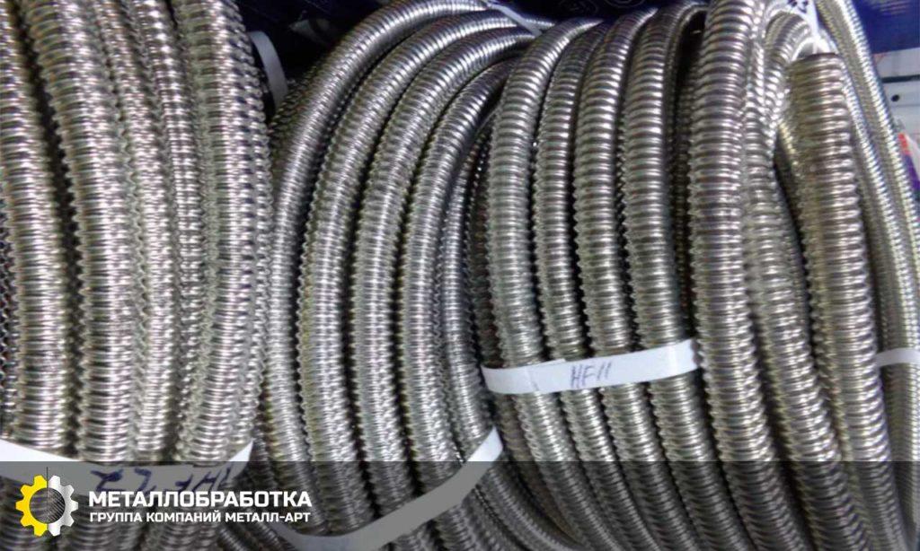 гофрированная труба из нержавеющей стали для отопления цена